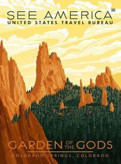 Vintage America travel poster. #vintage #poster #print #design