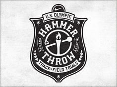 Dribbble - Nike Ht2 Cut by Richie Stewart #olympic #badge #throw #nike #hammer #trials