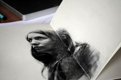 Graphite Portraits of Friends by Thomas Cian #illustration #idea #studio #graphite