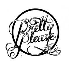 MONAUX ~ Illustration & Typography » Pretty Please #typography