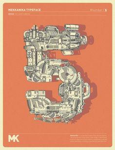 WANKEN - The Blog of Shelby White» Mekkanika Experimental Typeface