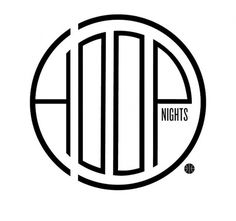 Hoop Nights - iamalwayshungry #type #fresh #identity #branding
