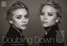 Mary Kate & Ashley by Peter Lindbergh #fashion #photography #inspiration