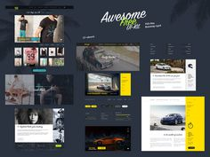 Awesome UI Kit #ui #psd #freebie #bootstrap