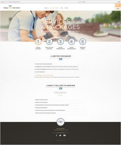 Identity College Access International #mexico #design #education #mno #web