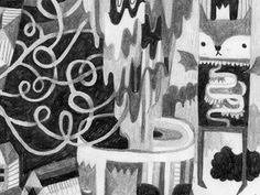 Dracula Cat Ingunn Dybendal #vampire #fantasy #b&w #cat #illustration #pencil