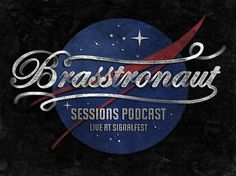 All sizes | Brasstronaut | Flickr - Photo Sharing! #script #nasa #texture #brasstronaut #music #logo #typography
