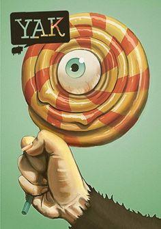 Yak Magazine - Michael Sungaila, Graphic Designer and Illustrator #yak #lollipop #painting #sungalia