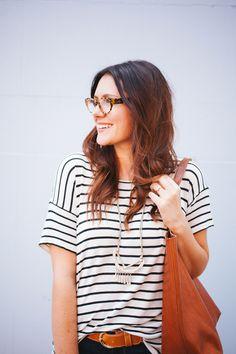 Kendi Everyday: Cognac + Stripes #fashion #strips #photography