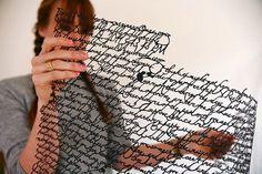 Handcut Paper – Fubiz™ #typography