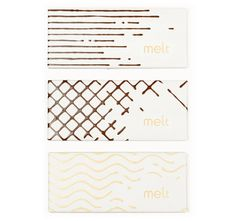 Melt chocolate packaging #pattern #packaging #shapes #label #food #chocolate #milk #package