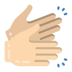 See more icon inspiration related to clap, music and multimedia, hands and gestures, clapping, congratulations, hand gestures, hand gesture, entertainment, applause and gestures on Flaticon.