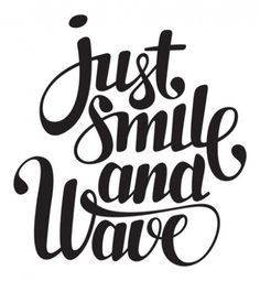 Hello:) #doris #poligrates #lettering #just #wave #smile #and #jsaw #typography