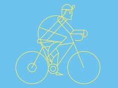 Line biker #illustration