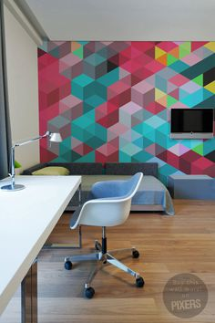 Geometric Jacket #interior #mural #design #decor #home #geometric #wall
