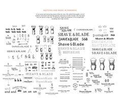 Shave & Blade Identity #stationaryoverdose #branding #stationery