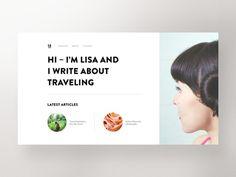 Travel Blog, UI