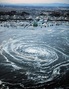 Seen from above, the awesome scale of Japan's destruction (big photo gallery) - Boing Boing #whirlpool