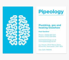 Pipeology logo #card #pipeology #plumbing #business