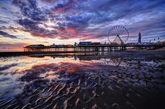 Blackpool Beach Sunset