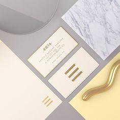 Tavo #stationery #artdireciton #businesscard #marble #print