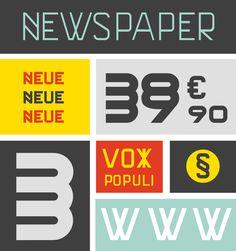 Font design by Philippe nicolas #specimen #type specimen #grid #construction #font #typeface #type design #colors #presentation #bauhaus