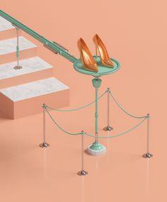 MORE Magazine: Marie Kondo #magazine #shoes #pastel #pink #gold #fashion