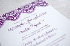 purple invitation #invitation #elegant #purple #lace #wedding