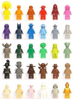 100 custom LEGO minifigs #color #lego #art