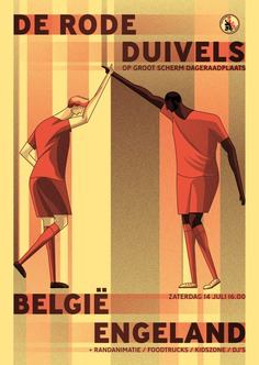 Posters World Cup matches Belgian Red Devils