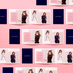 Shimmy fashion beautiful packaging branding corporate design pink minimal logo business card stationery ragged edge mindsparkle mag graphic