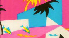 80s tropical fabric #fabric #bright #80s