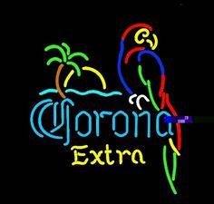 neon-beer-signs.jpg 500×478 pixels #corona #parrot #neon