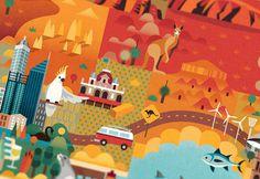Discover Australia, Jimmy Gleeson, 2013 #australia #illustration
