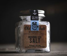 Sea salt packaging #design #packaging #package design #sea #sailor #anchor #nautical #salt