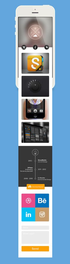 Mobile Website - Justin Graham #ux #ui #mobile #webdesign #web