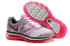 Womens Air Max 2012 Silver Pink Shoes #shoes
