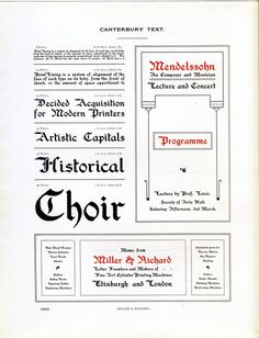Canterbury Text type specimen #type #specimen