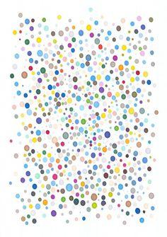 Handheld Pantone Pen Prints : Daniel Eatock #eatock #pens #art #pantone #daniel #colour