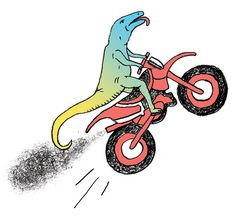 New York Times Magazine Spots 2 — Paul Windle #illustration #lizard #motorcycle