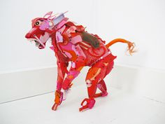 Beach Trash Used to Create Life Sized Animal Sculptures | PICDIT #sculpture #animal #color #art