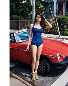 """Rock Away"" : Isabeli Fontana : Bergdorf Goodman Magazine's Resort Swim Collections : Angelo Pennetta"