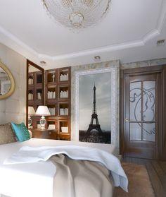 Luxury design in artistic bedroom