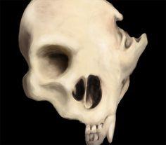 . #human #paint #illustration #photoshop #bear #skull