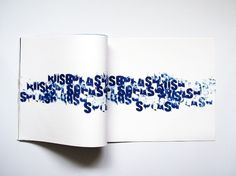 Beauty of water : The design portfolio of Alix Land #typ #letterpress #water #typography