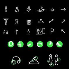 Wayfinding | Signage | Sign | Design 波兰黑白绿小图标