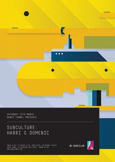 RA: Subculture: Harri & Domenic at Dance Tunnel, London #design #graphic #poster #music #typography