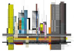City Line | Flickr - Photo Sharing! #skyscrapers #city #design #graphic #architecture #metro #skyline #buildings