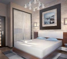 Large painting in modern bedroom