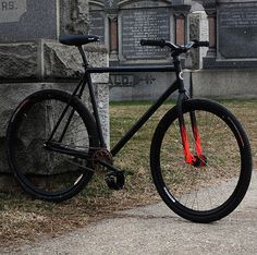 PEDAL Consumption #flames #fixie #red #bicycle #black #simple